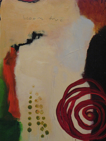 (cropped) Bloom True - painting by Flora S. Bowley