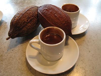 Spicy, dark drinking chocolate